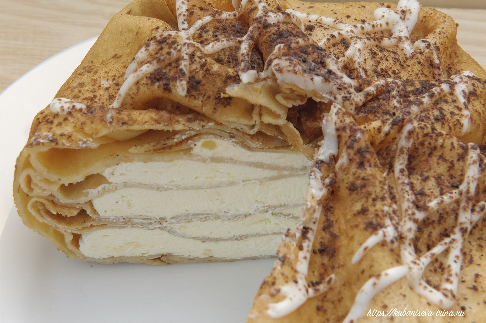 Торт из блинов пошаговый рецепт с фото