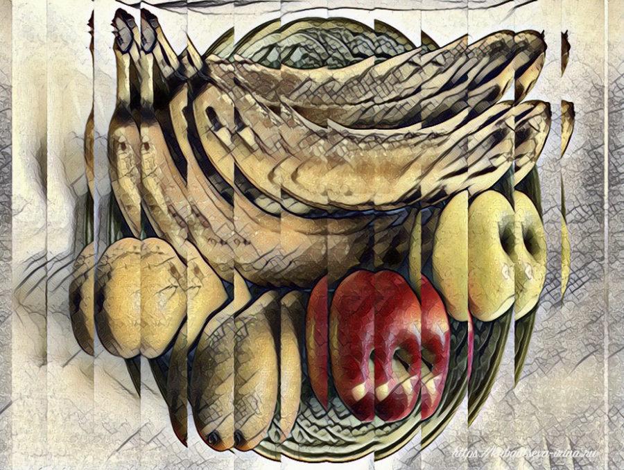фрукты в тарелке картинка