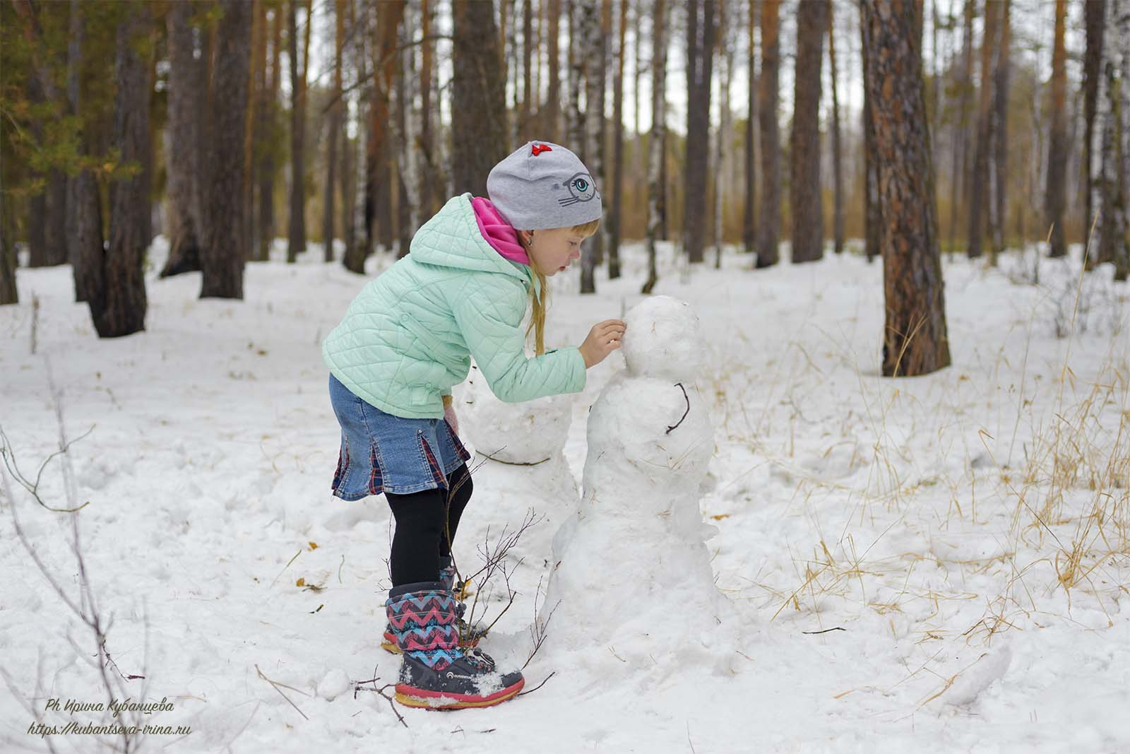 снеговики дети фото