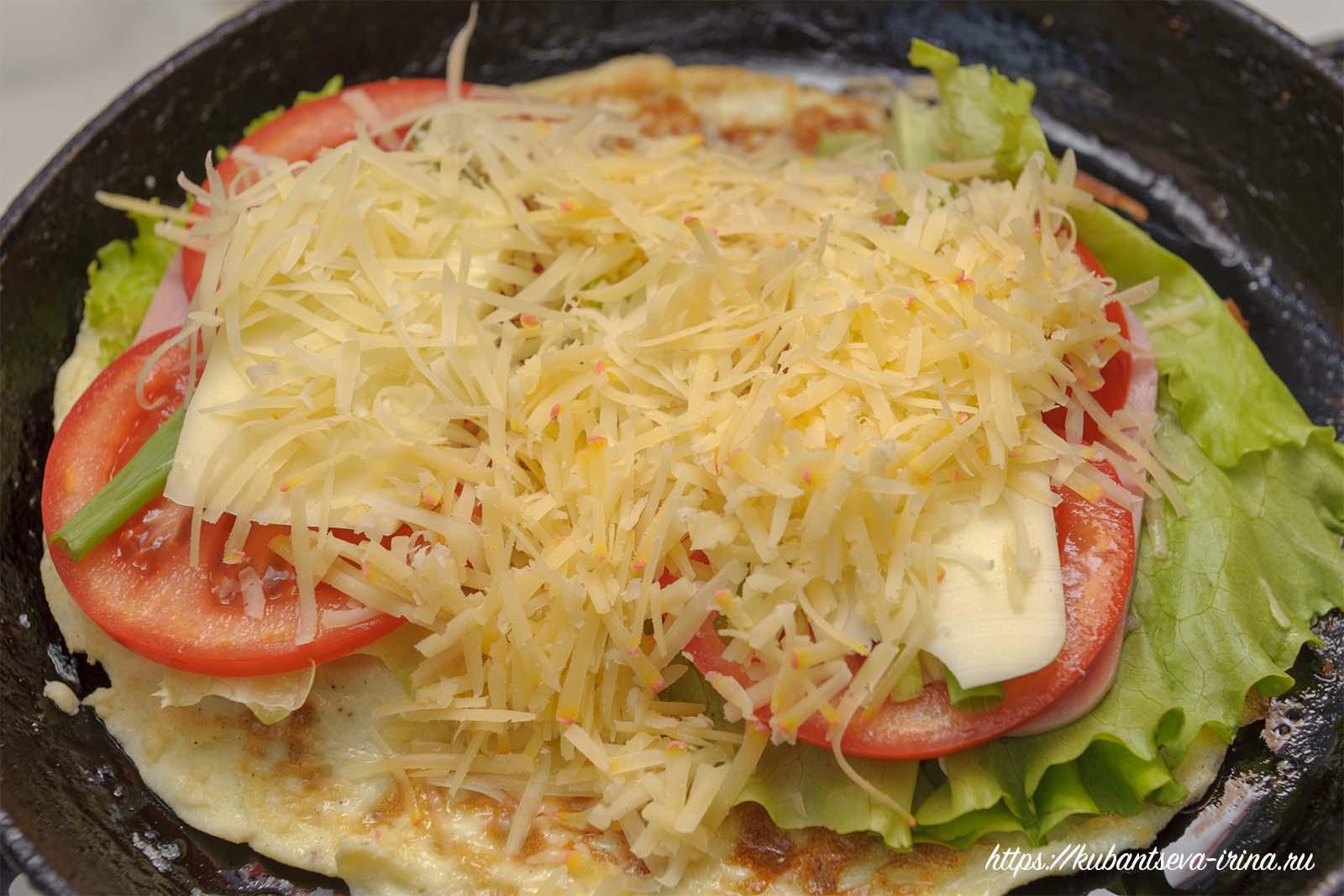 как сделать необычный бутерброд с омлетом фото