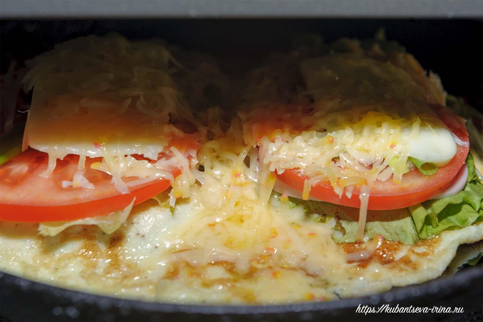 бутерброд под грилем фото
