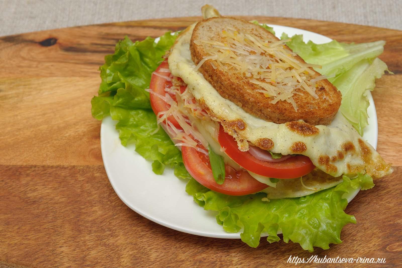 как сделать бутерброд с яйцом фото
