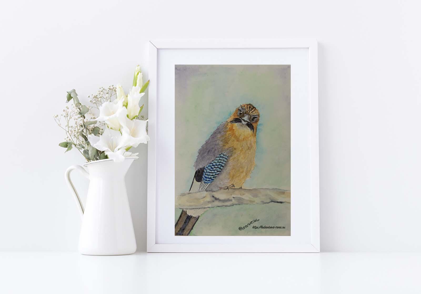 день птиц рисунок акварелью