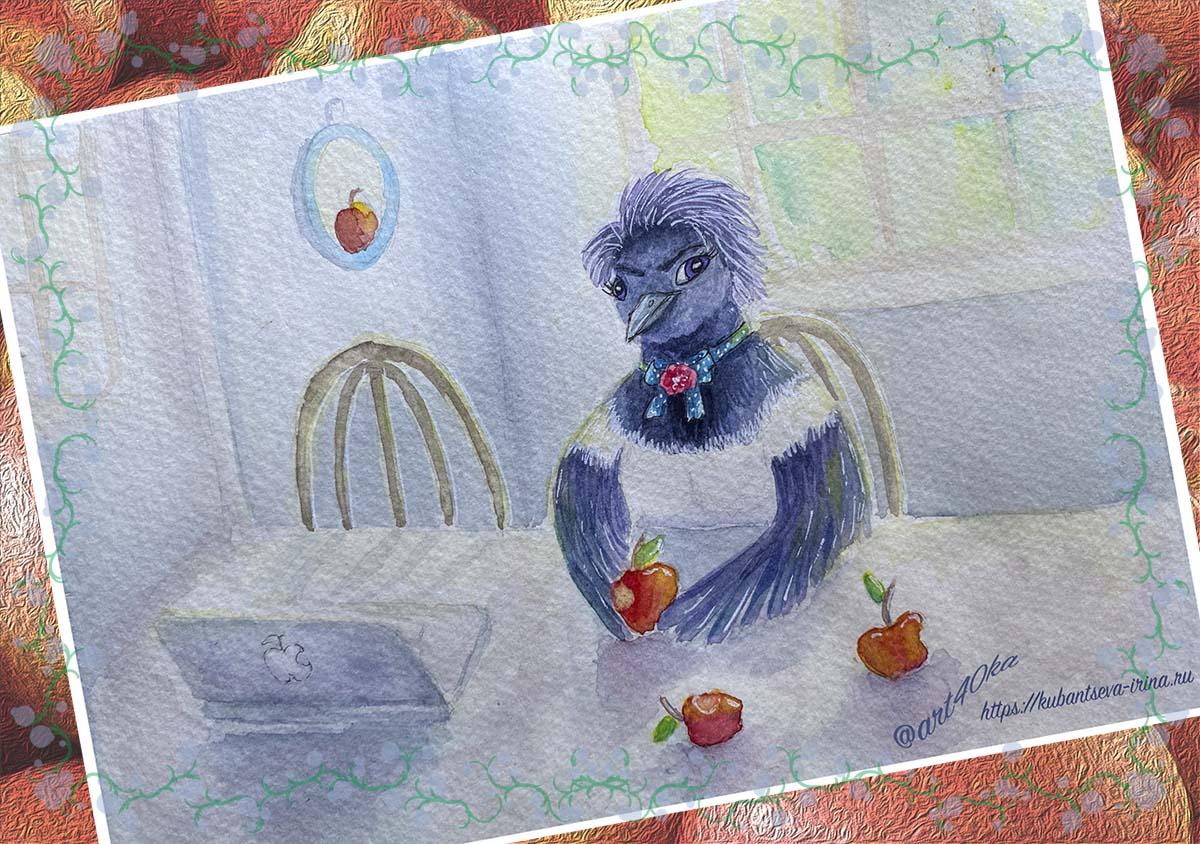 сорока с яблоками версия картины