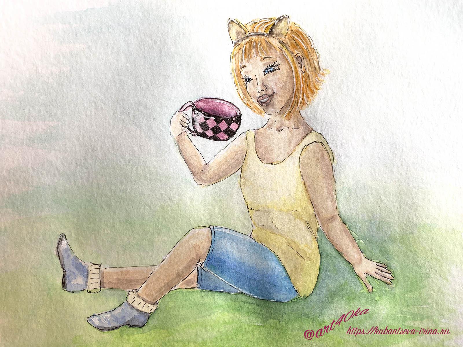 Алиса в стране чудес иллюстрации