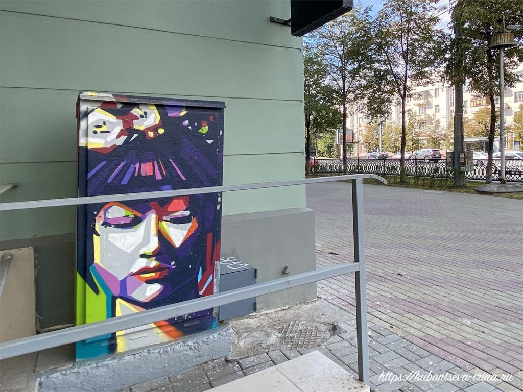 граффити на ящиках народный художник челябинск